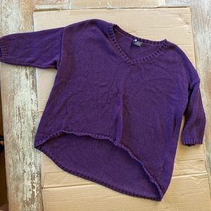 Short sleeve baggy slouch sweater